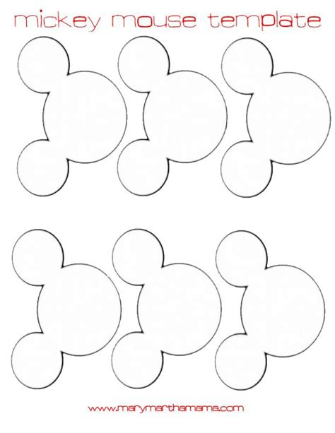 free mickey mouse template mickey mouse ears cut out images
