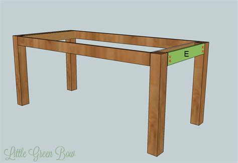 Dining Table Bench Plans Free Diy Farmhouse Dining Table Plans Woodguides
