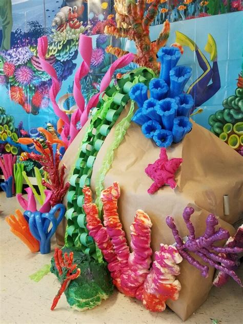 How To Make Coral Out Of Paper - coral out of spray insulation foam and pool noodles