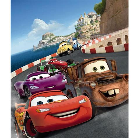 disney cars italy large photo wall mural room decor wallpaper ebay