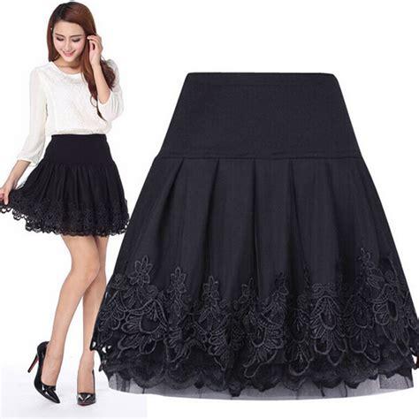 Sinta Lace compra falda de encaje corto al por mayor de china