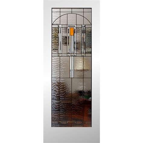 Interior Slab Door With Glass Shop Reliabilt 24 In X 80 In 1 Lite Solid Non Bored Stained Glass Interior Slab Door At