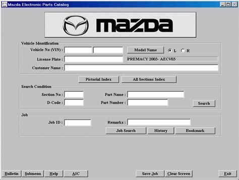 Sparepart Mazda 2 mazda europe lhd 2012 spare parts catalog cars catalogues