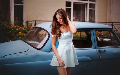 wallpaper classic girl model with classic car hd girls 4k wallpapers images