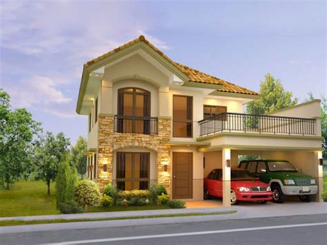Modern House Designs And Floor Plans Philippines 2 storey house plans philippines with blueprint modern