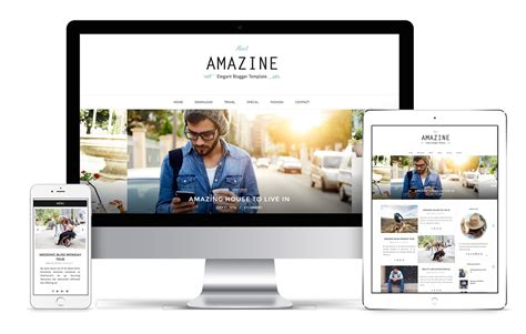 design blogger amazine blogger template installation guide bthemez blog