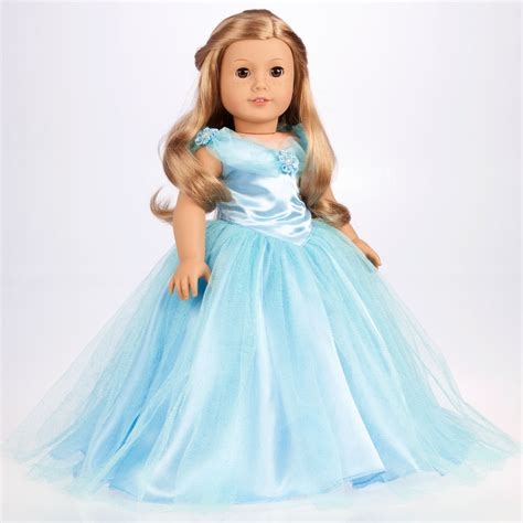 Cinderella   Doll Clothes for 18 American Girl, Disney Blue Gown Silver Slippers   eBay