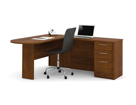 Bestar L Shaped Desk Bestar Embassy L Shaped Desk With Peninsula