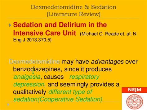 Benzodiazepine Withdrawal A Literature Review And Evaluation by Dexmedetomidine In Icu Hashemian