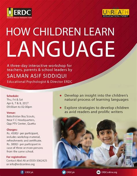 how children learn language a three day interactive workshop on how children learn language erdc