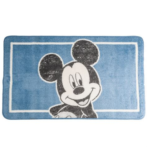 mickey mouse bath rug disney mickey mouse soft washable bath mat 50x85cm ebay