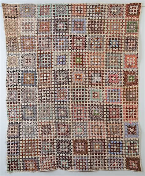One Patch Quilts by One Patch Quilt In Squares Ca 1880 Maine