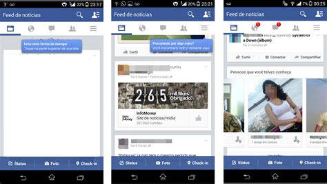 facebook app layout change facebook testa novo layout em seu app para android rede