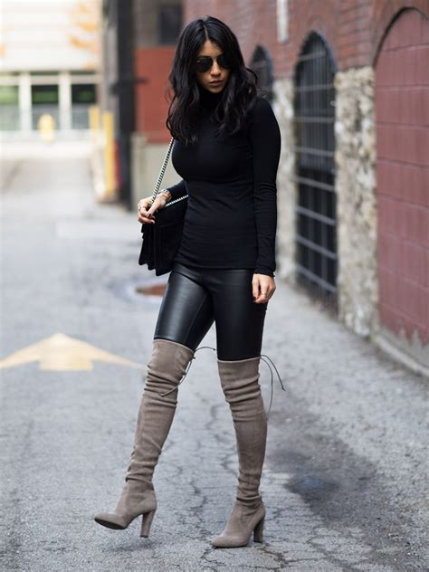 thigh high grey boots boot yc