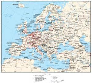 map of europe with all cities thefreebiedepot