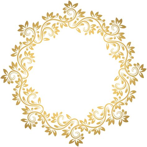 transparent background invitations announcements zazzle gold deco round border png transparent clip art gallery