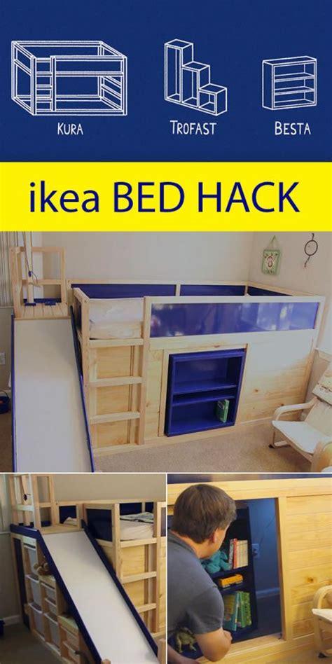 ikea hack bed bridge bookcase crazy ingenious ikea hack includes a secret room behind