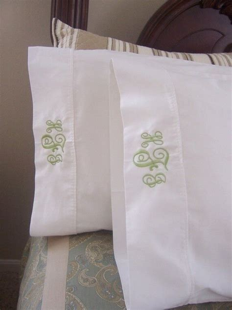 Initial Pillow Cases - monogrammed standard size pillow cases pair ebay