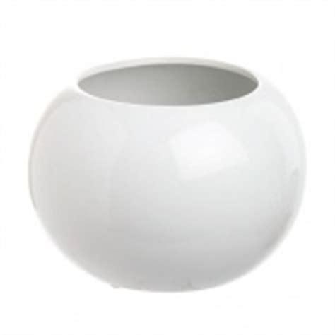 White Bowl Vase White Fish Bowl Vase For Tables Uleah