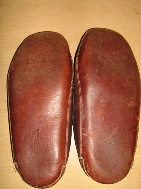 mens slippers ll bean ll bean mens brown leather moccasins slippers driving