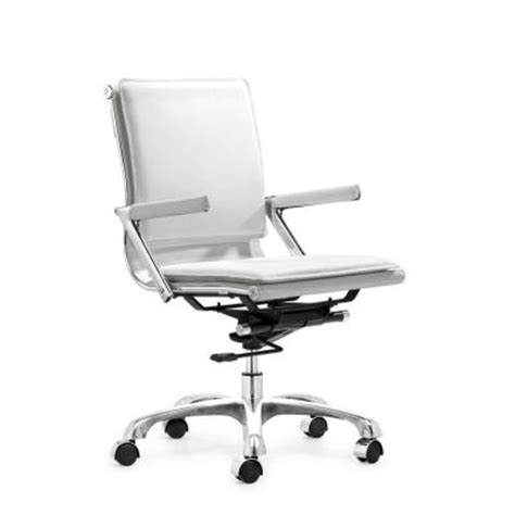 zuo lider plus white office chair 215214 the home depot
