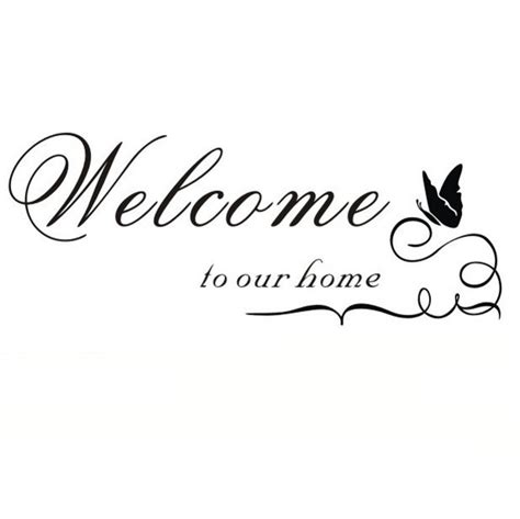 aliexpress buy welcome to our home wall quote
