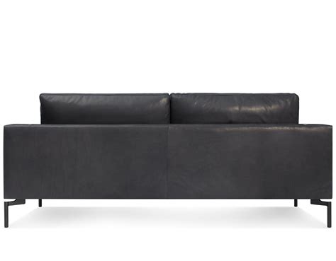 sofa 78 inches wide standard 78 quot leather sofa hivemodern com