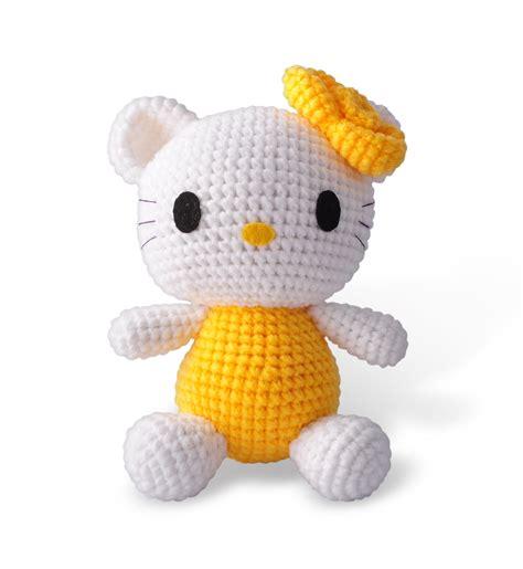 Handmade Stuffed Animals For Sale - pink hello handmade amigurumi stuffed animal