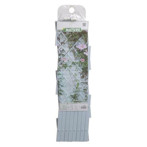 enrejado pvc blanco nature enrejado de jard 237 n 50x150 cm pvc blanco 6040701