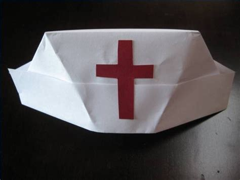 How To Make A Nurses Hat Out Of Paper - how to fold a s hat with pictures ehow