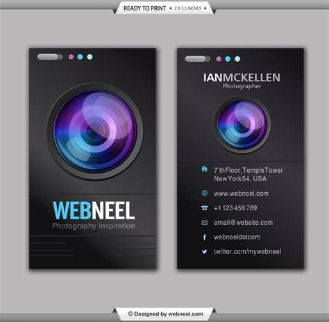 photography business card design template 35