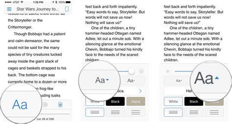 how to change font color on iphone how to customize reading options in kindle for iphone and
