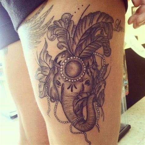 elephant tattoo with jewels 1000 ideas about thigh piece on pinterest tattoos
