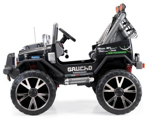Kinderauto 24v by 24v Peg Perego Gaucho Superpower Elektro Jeep Zweisitzer