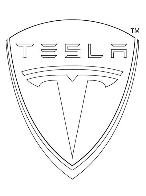 cars logo coloring pages coloring page tesla motors logo coloring pages