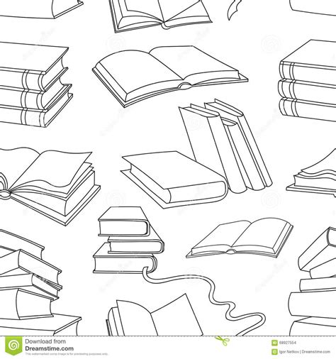 book shape template books pattern on white background stock vector image