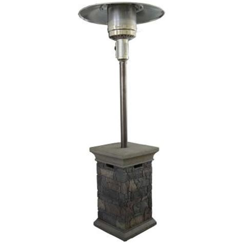 Propane Patio Heaters Home Depot Bond Manufacturing Corinthian Envirostone 42 000 Btu Propane Gas Patio Heater 67633 The Home Depot