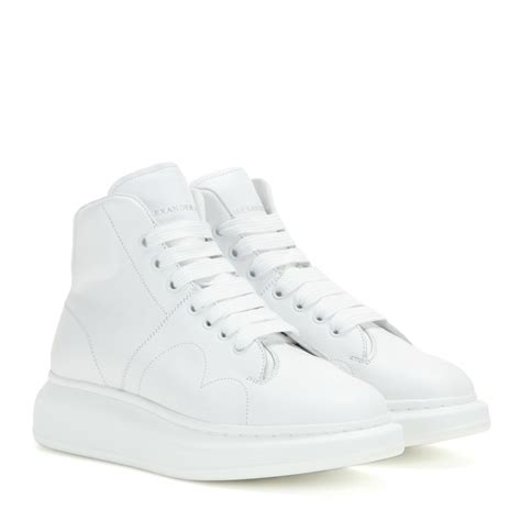 mcqueen sneakers womens lyst mcqueen larry leather high top sneakers