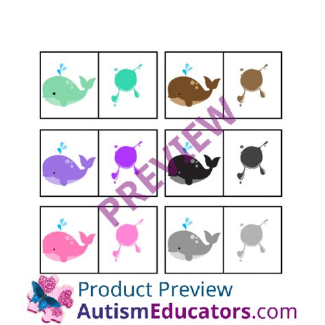 color for autism color whales matching for autism