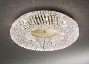 lights on ceiling for baby kolarz carla gold 3 light flush ceiling light