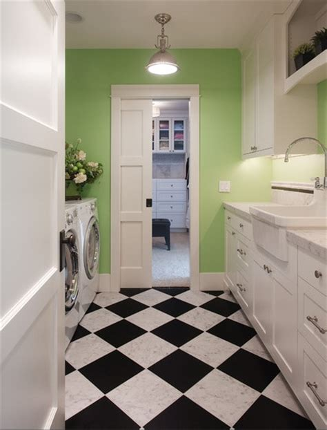 Laundry Room Floors by Laundry Room Black White Flooring Ideas Home Interiors