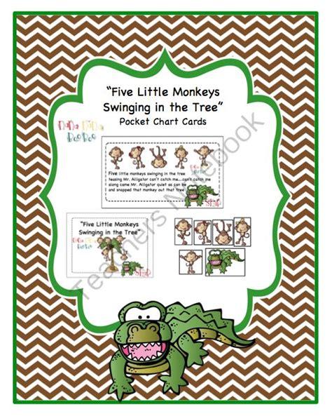 five little monkeys swinging in a tree printables quot five little monkeys swinging in the tree quot pocket chart