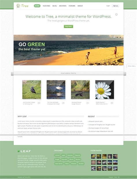 30 cool green wordpress themes 2014