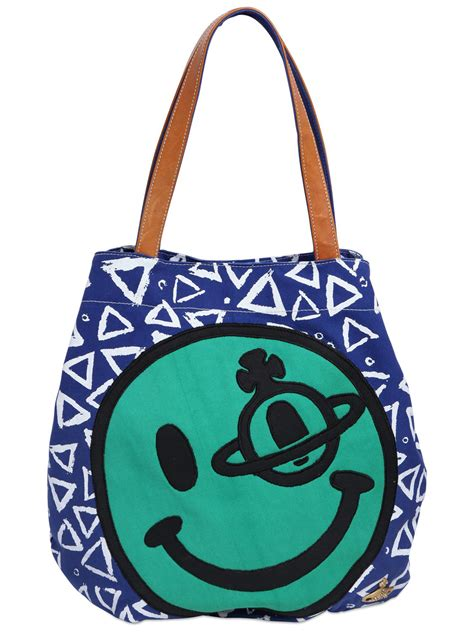 Tote Sneaker Smile lyst vivienne westwood smiley printed cotton canvas maxi