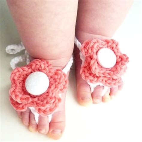 Handmade Baby Items That Sell - knitted barefoot sandals world of the