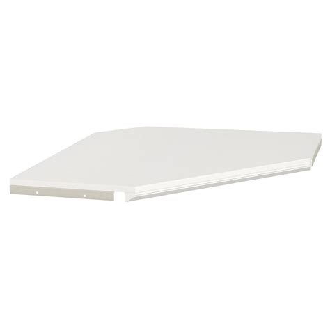 Closetmaid Corner Shelf Closetmaid Impressions 28 In White Corner Shelf Kit With