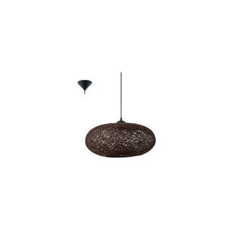 cilo eglo 1 light ceiling pendant brown 93375