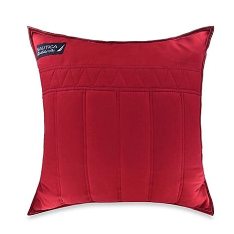 red throw pillows for bed nautica 174 mainsail square throw pillow in red bed bath