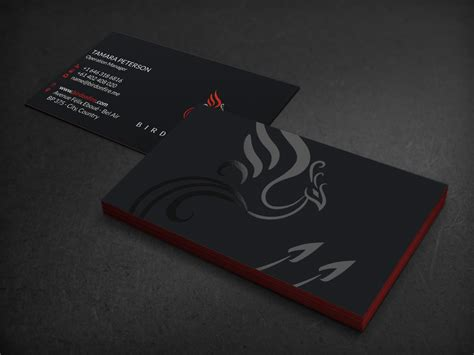 designcrowd pty upmarket professional stationery design for bird on fire