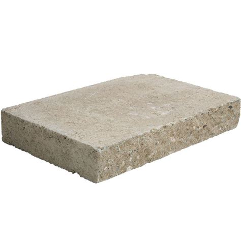pavestone 12 in x 8 in x 2 in buff concrete wall cap